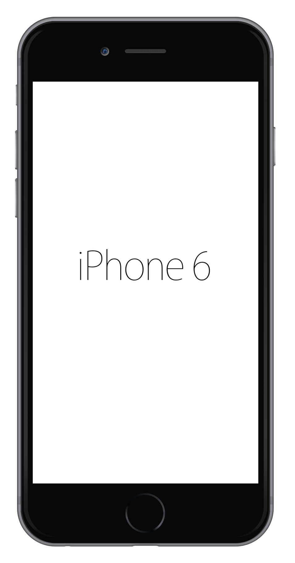 iPhone 6 Sketch Template