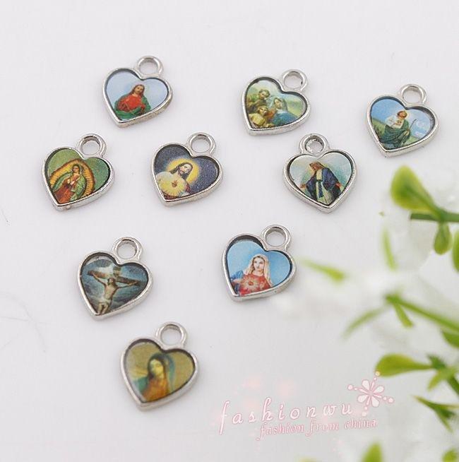 Jesus Heart Charm Bracelet
