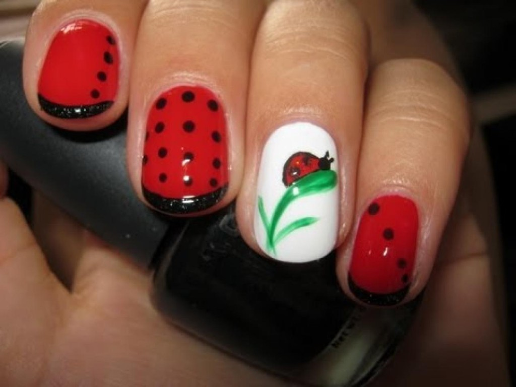 Ladybug Nail Art Design