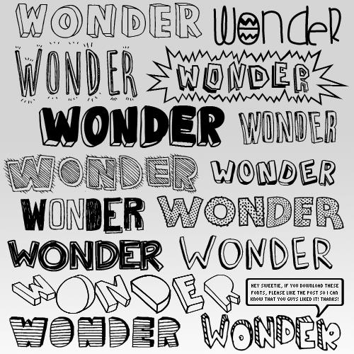 10 Pretty Alphabet Fonts Tumblr Images