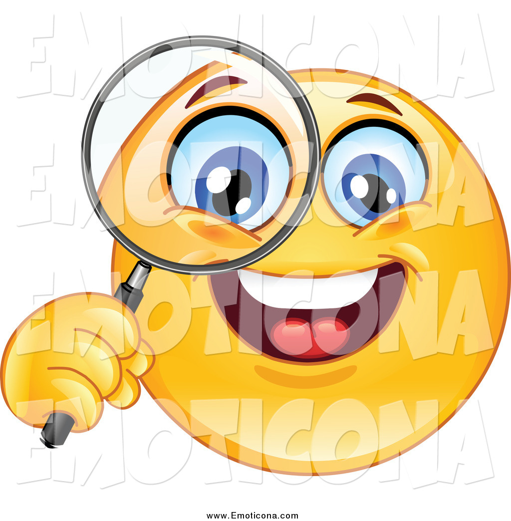 Looking through a Magnifying Glass Emoticons