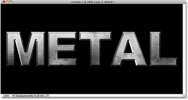 Metal Text Effect Photoshop