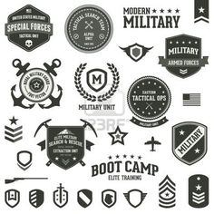 13 Military Badge Icon Vector Images