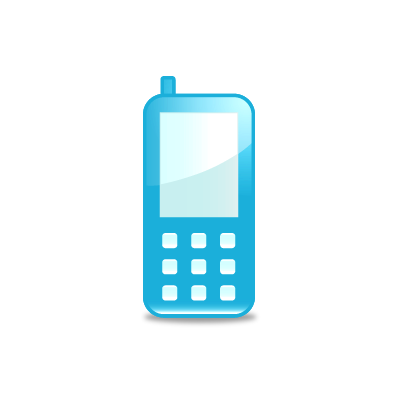11 Cell Phone Icon Blue Images