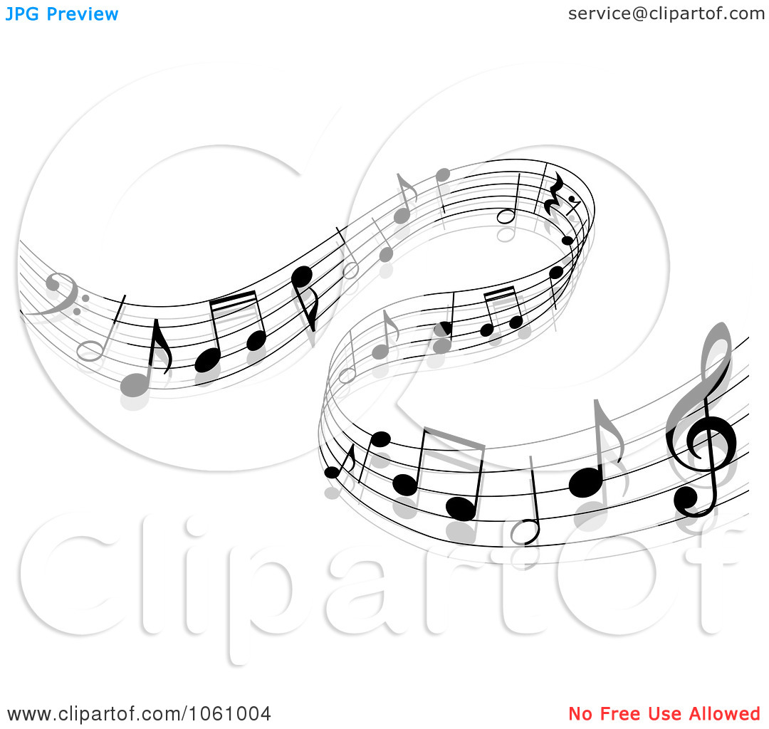 Music Staff with Notes Free Clip Art