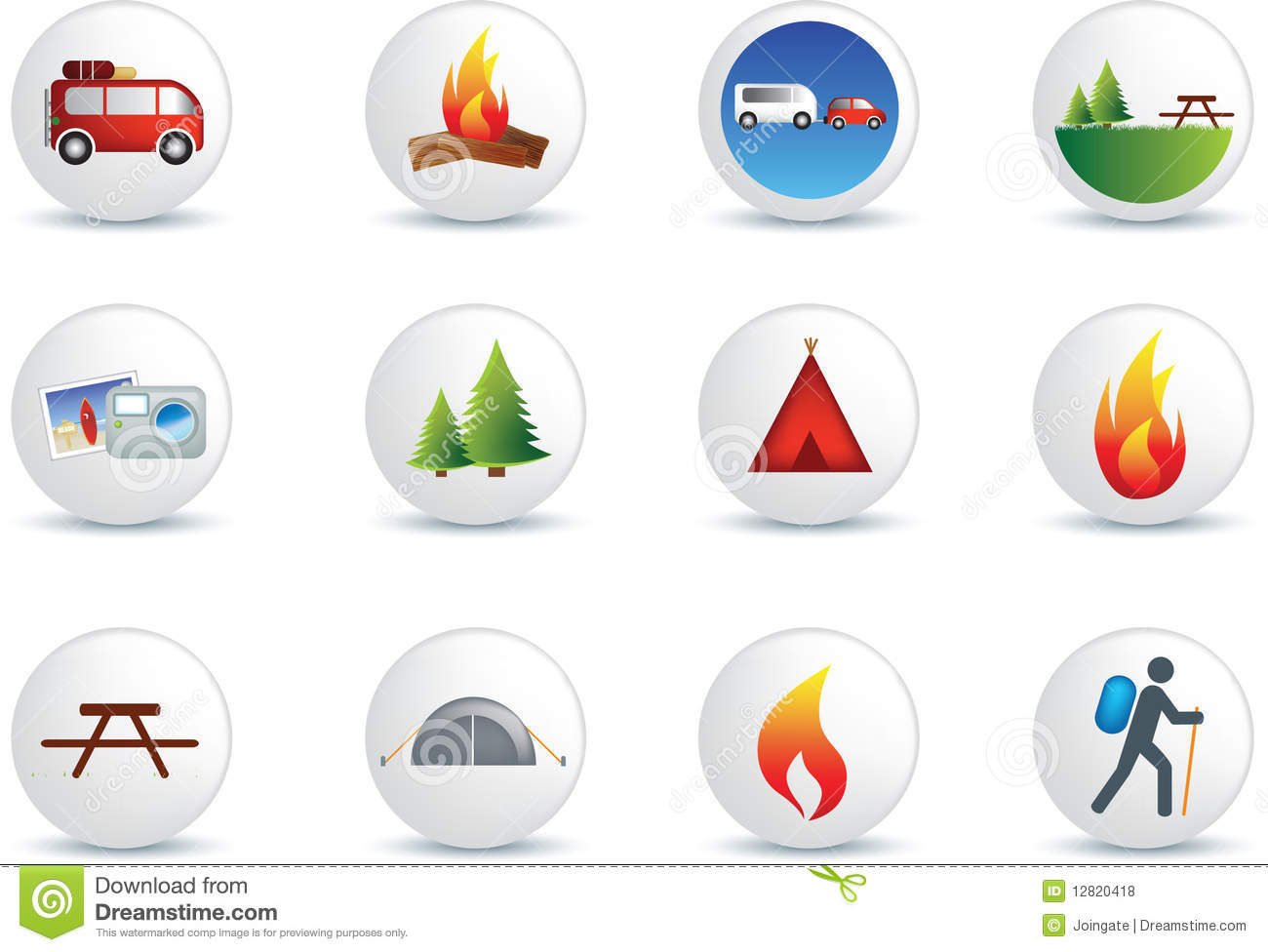 Outdoors Camping Icons