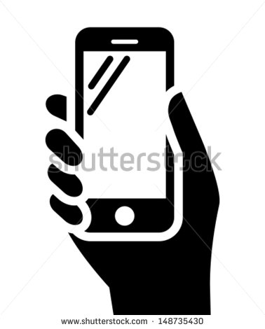 Person with Mobile Phone in Hand Icon