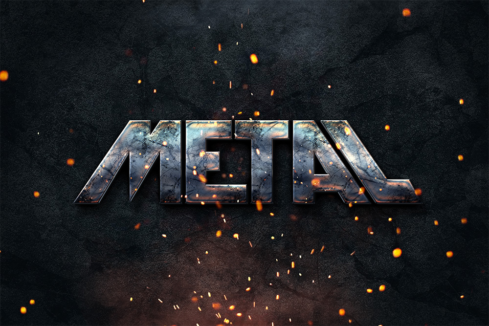 Photoshop Metal Text Effect Download