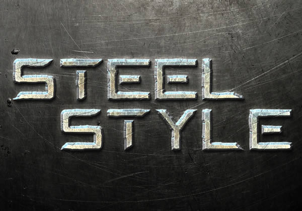 Photoshop Tutorials Metal Text Effect