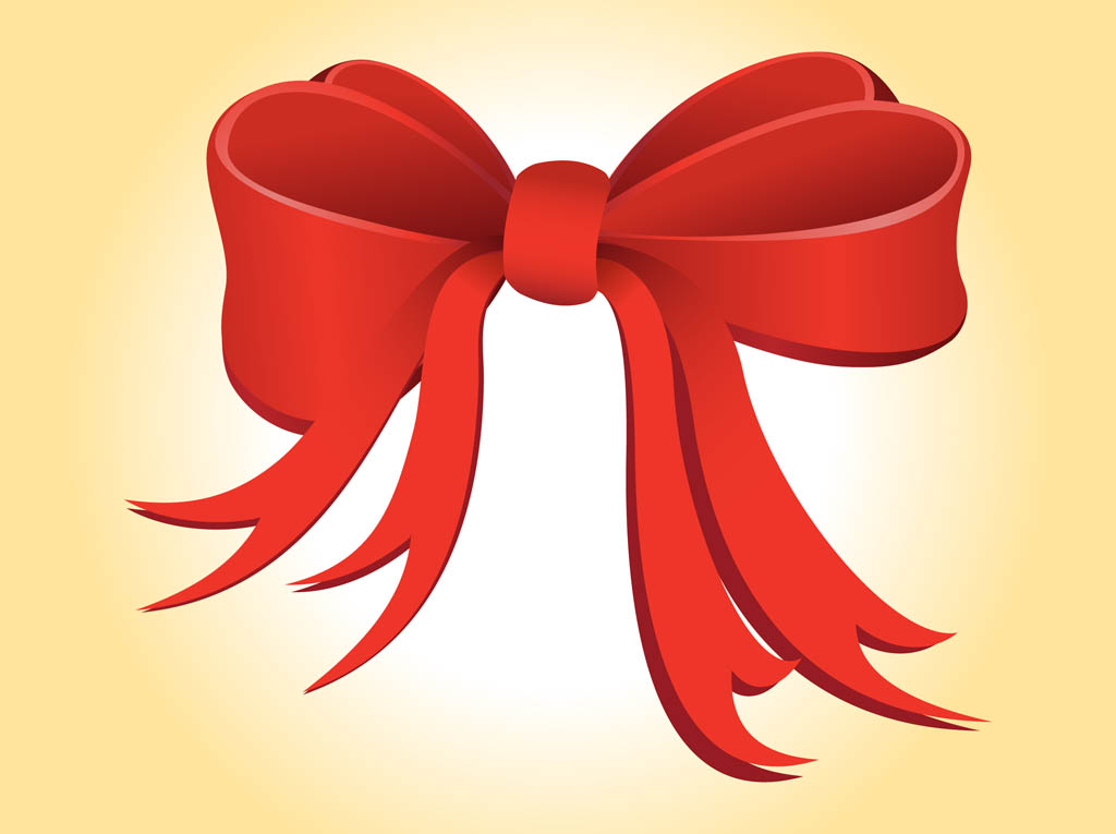 15 Christmas Bows Ribbons Vector Free Images