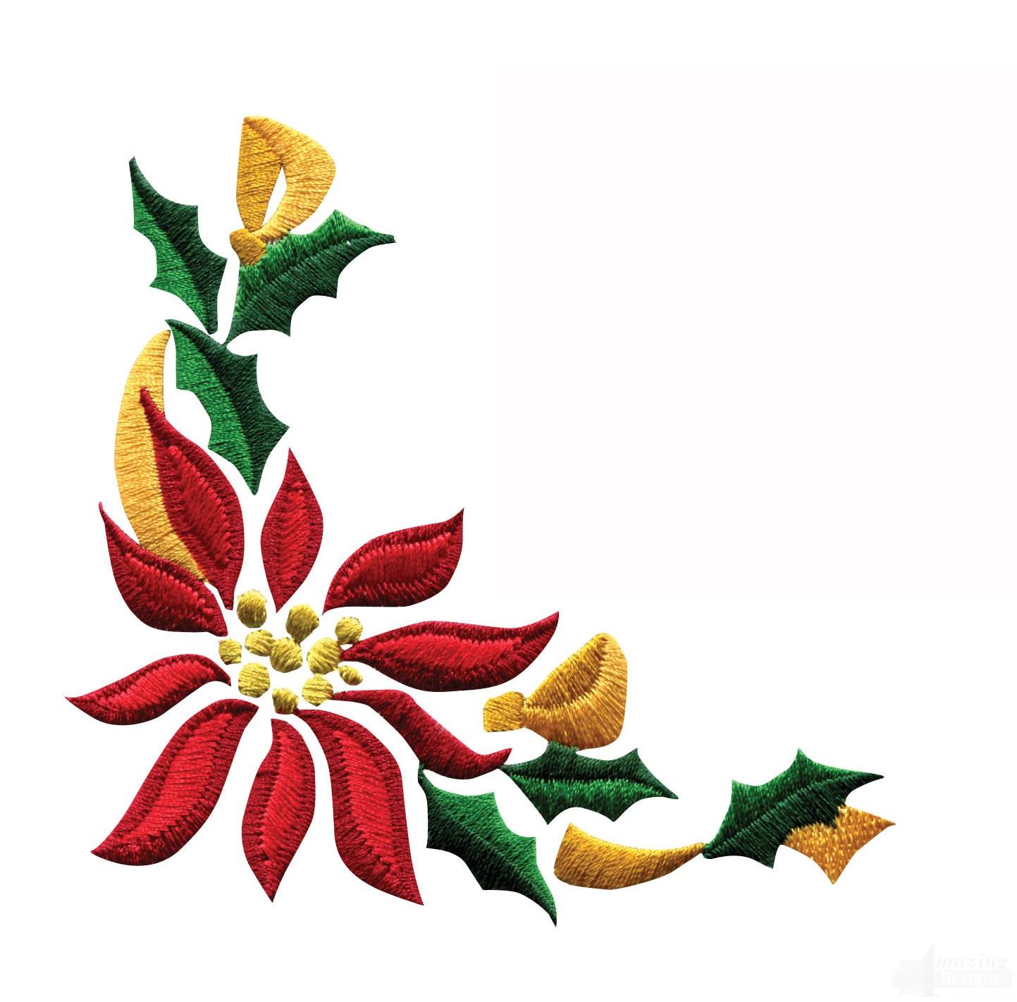 Poinsettia Border Clip Art
