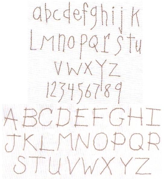 11 Primitive Alphabet Font Images