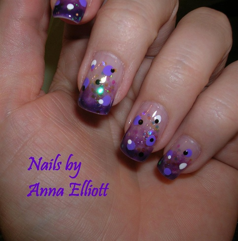 8 Purple Gel Nail Designs Images