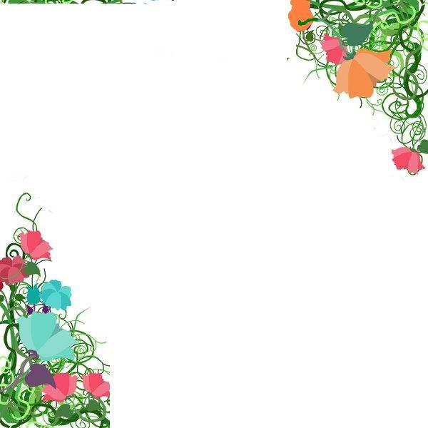 Rose Page Corner Border Designs