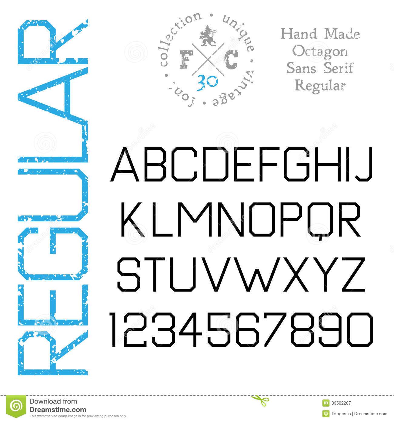 Sans Serif Type Font