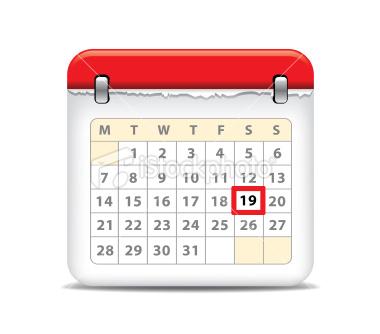 8 Calendar Button Icon Images