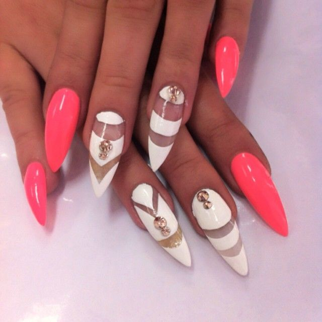 15 Sharp Nails Designs 2015 Images
