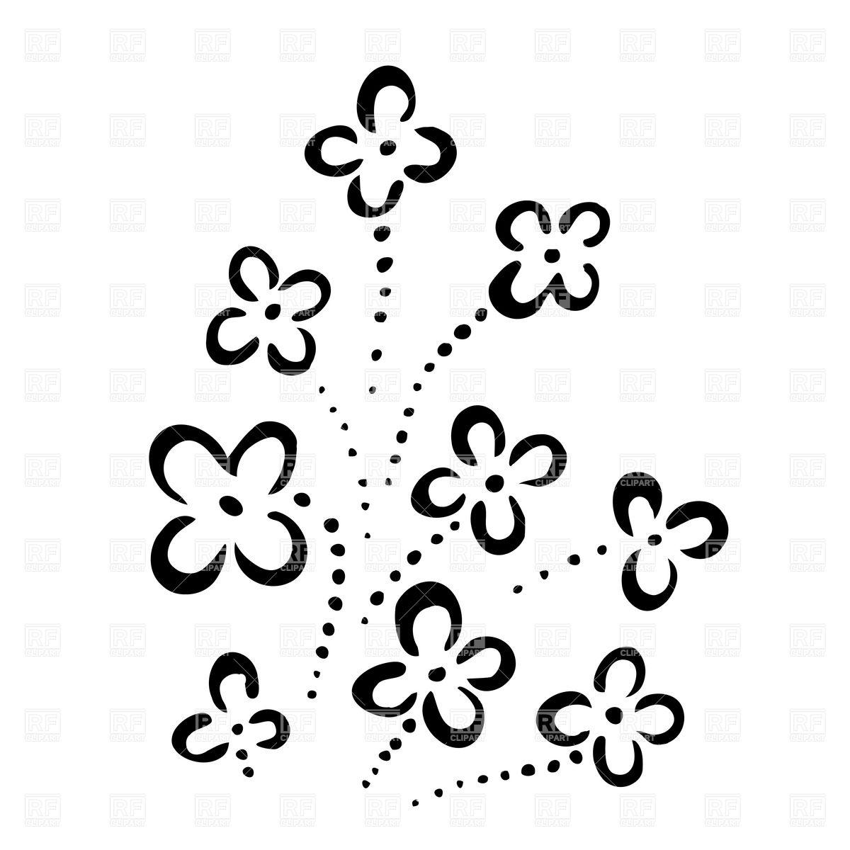 Simple Flower Designs Drawings