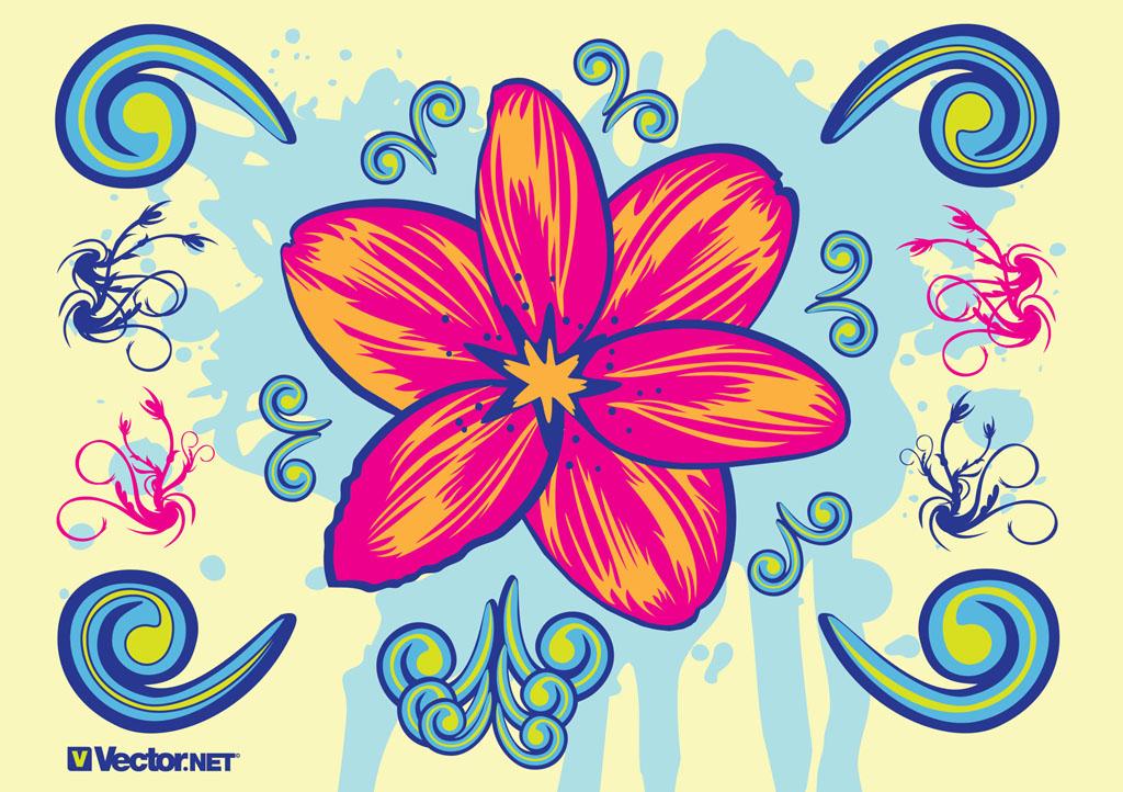 10 Blooming Blossom Flower Vector Art Images