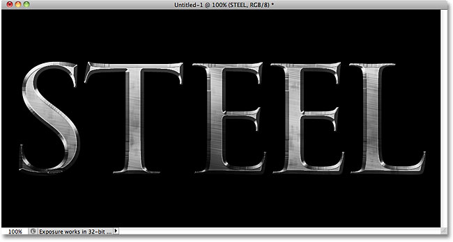 Steel Text Effect Photoshop