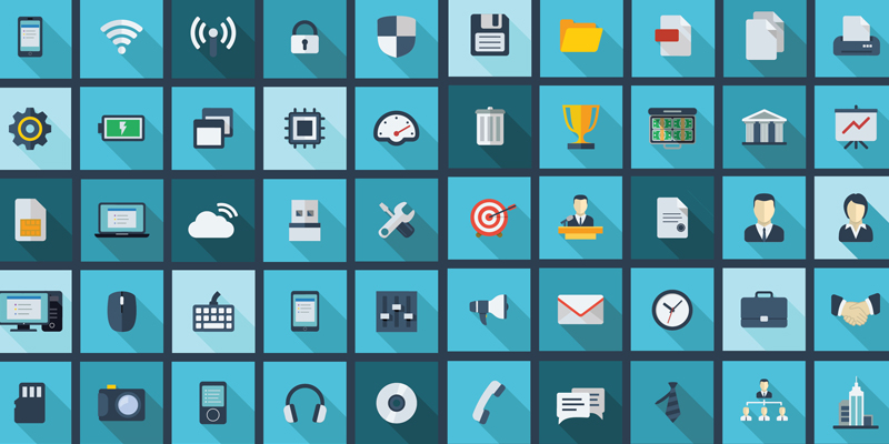 12 Business Technology Icon Images