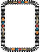 Train Track Page Border