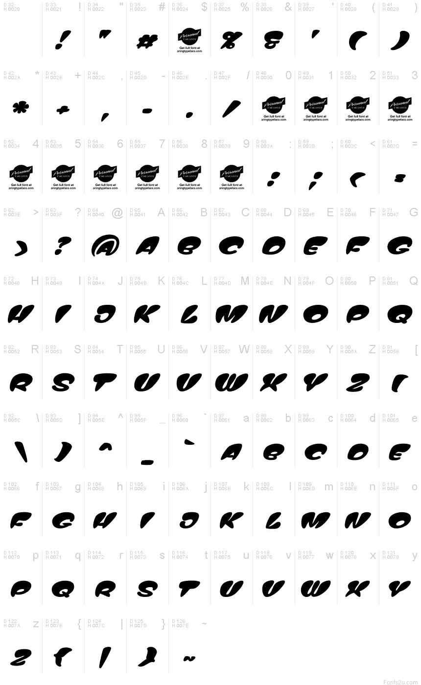 Tribal Tattoo Lettering Fonts
