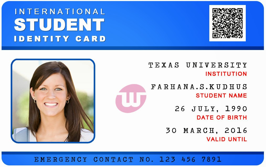 10 psd university card images business card psd template for Student business card template