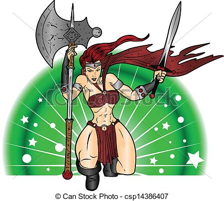 10 Woman Warrior Vector Art Images