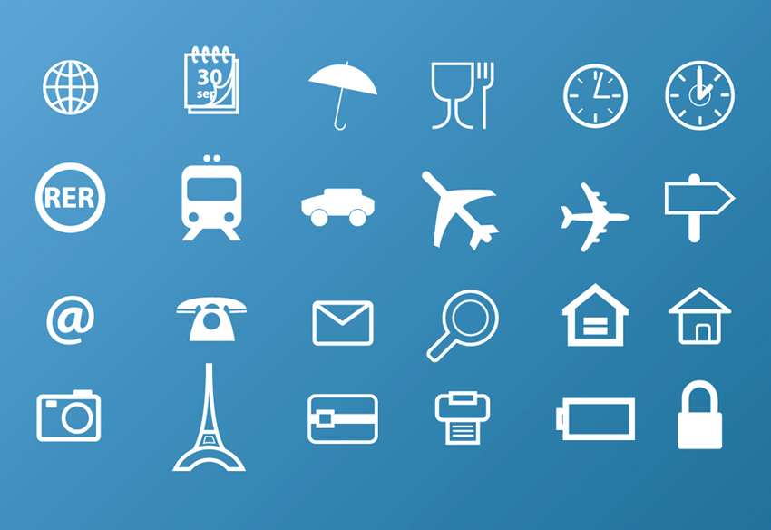 Vector Travel Icons Free