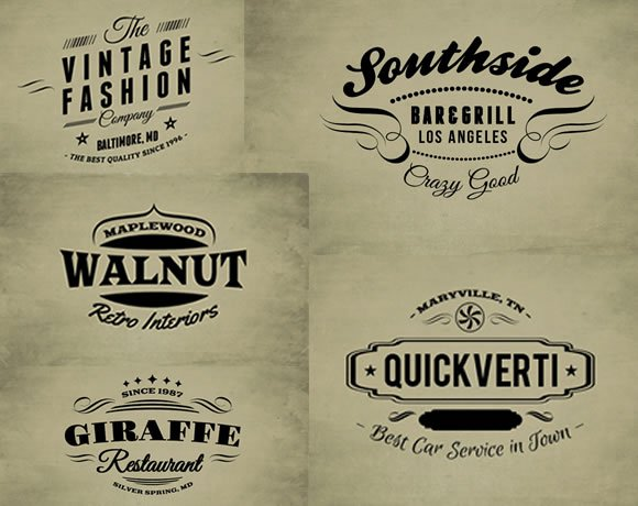 Vintage Logo Design Templates Free