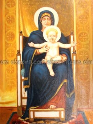 Virgin Mary Modern Art Painting