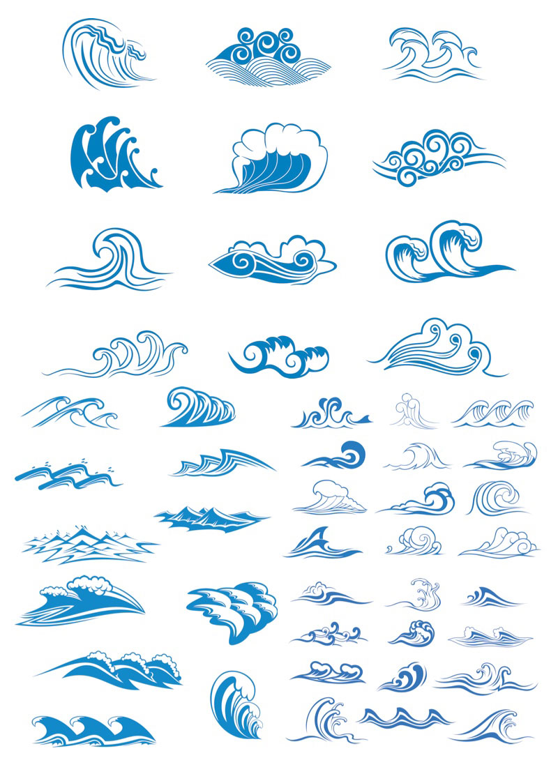 11 Vector Ocean Wave Shapes Images