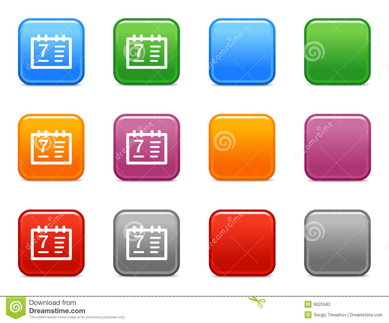 Calendar Web Icon : Calendar button icon images school web