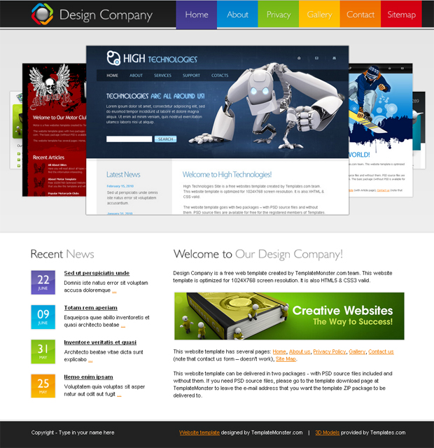 website designing templates free
