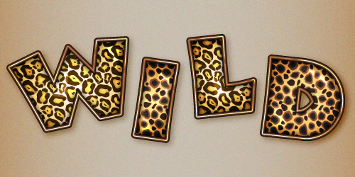 Wild Animal Print with the Word