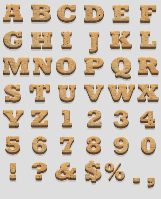 10 Wooden Cut Out Numbers Font Images