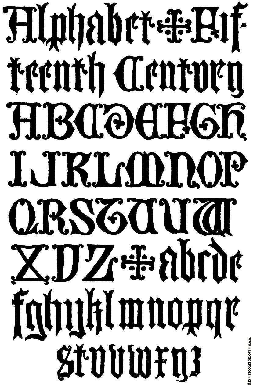 15th Century Gothic Letters