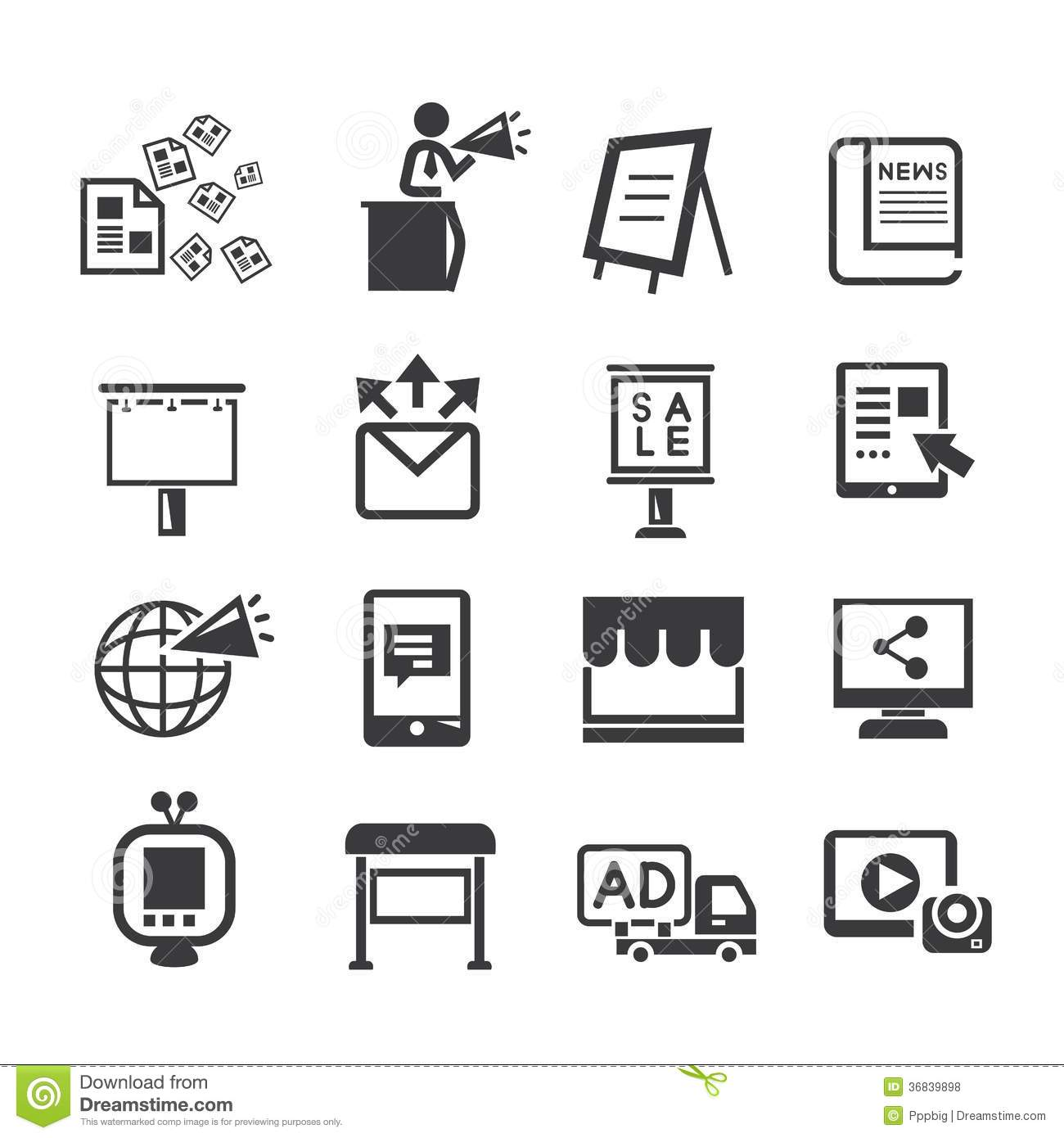 Advertising and Marketing Icons