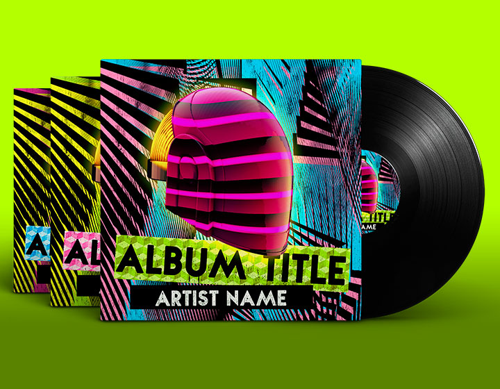 Album Cover PSD Template