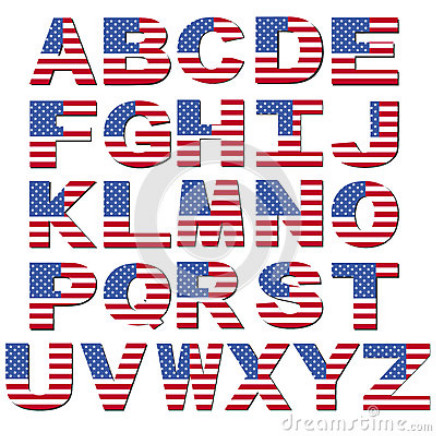 17 American Flag Font Letters Images