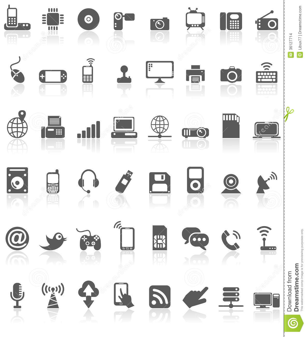 13 White Technology Icon Images