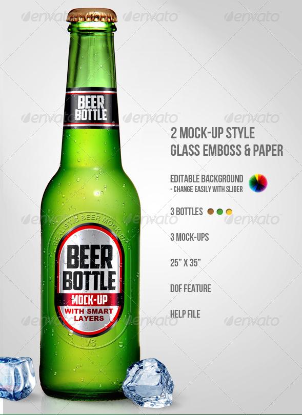 Beer Bottle Photoshop Mock UPS