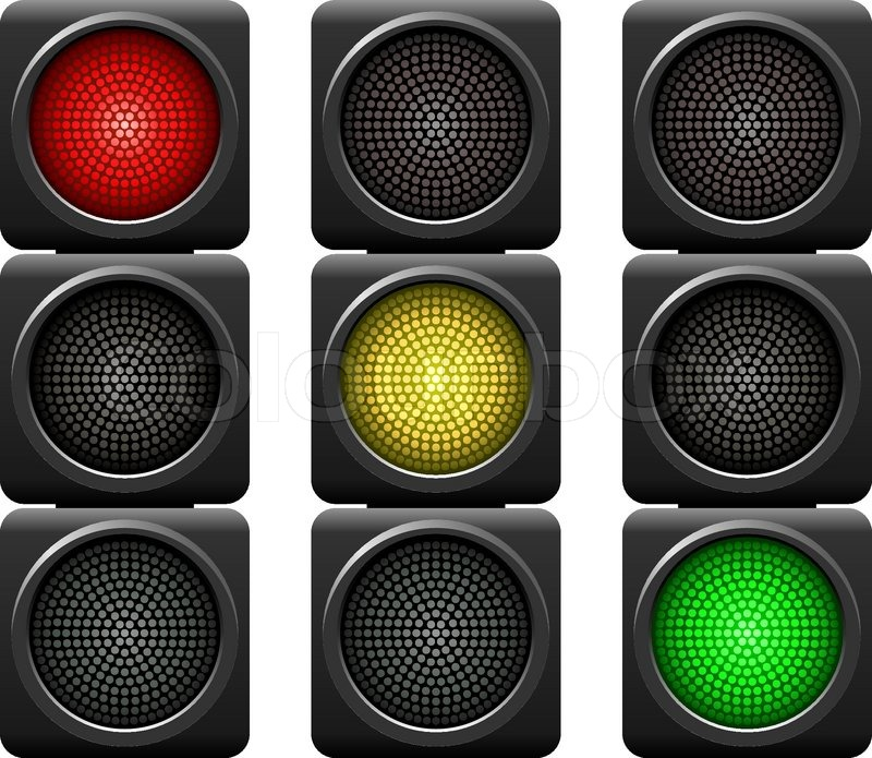 Black and White Horizontal Traffic Light