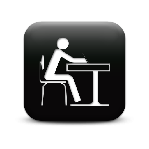 11 Student At Desk Icon Images