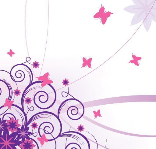 15 Flower And Butterfly Vector Graphics Images