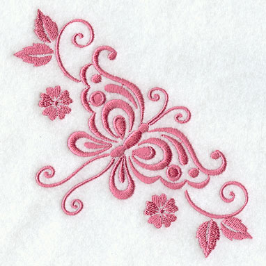 Butterfly Embroidery Design Border