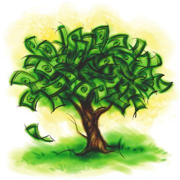 Cartoon Money Tree