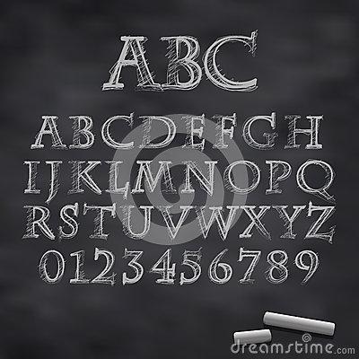 Chalk Alphabet Vector Font