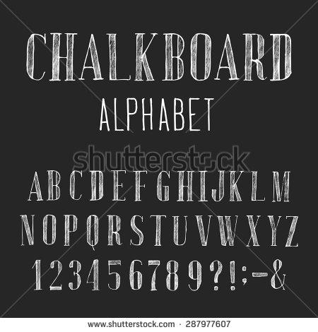Chalkboard Lettering Font Alphabet